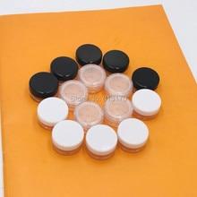 En gros 100 pcs/lot 1g Mini tamis pots 1ml pot de poudre en vrac pot cosmétique avec tamis maille cosmétique conteneur livraison gratuite