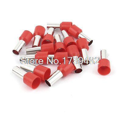 15 Uds Terminal de conector de crimpado de alambre preaislado casquillo rojo E16-12 6AWG 16mm2