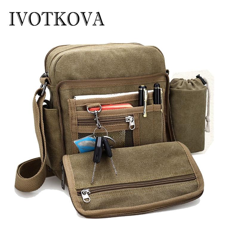 IVOTKOVA, bolso de mano diario para hombre, bolso de lona para hombre de alta calidad, bolso de viaje informal, bolso cruzado para hombre, bolsas de botella de mensajero para hombre