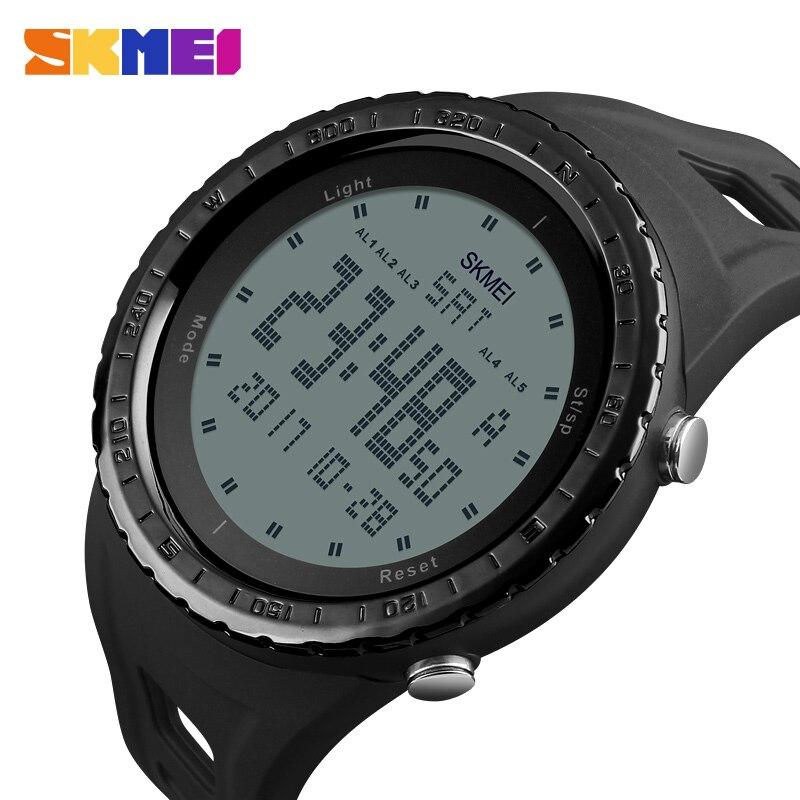 Relojes militares para hombre, a la moda reloj deportivo, marca skmei, LED Digital 50 M, resistente al agua, reloj de pulsera deportivo para exteriores