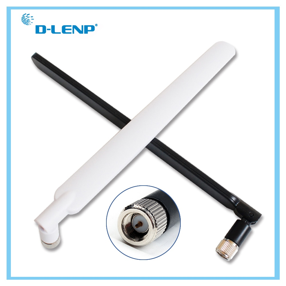 Black 4G Antenna for 4G LTE Router SMA Male 2 PCS/set External Antenna for Huawei B593 E5186 For HUAWEI B315 B310 698-2700MHz 4g lte sma connector 4g antenna booster for huawei b310 b593 e5186 b315 e5172 and so on