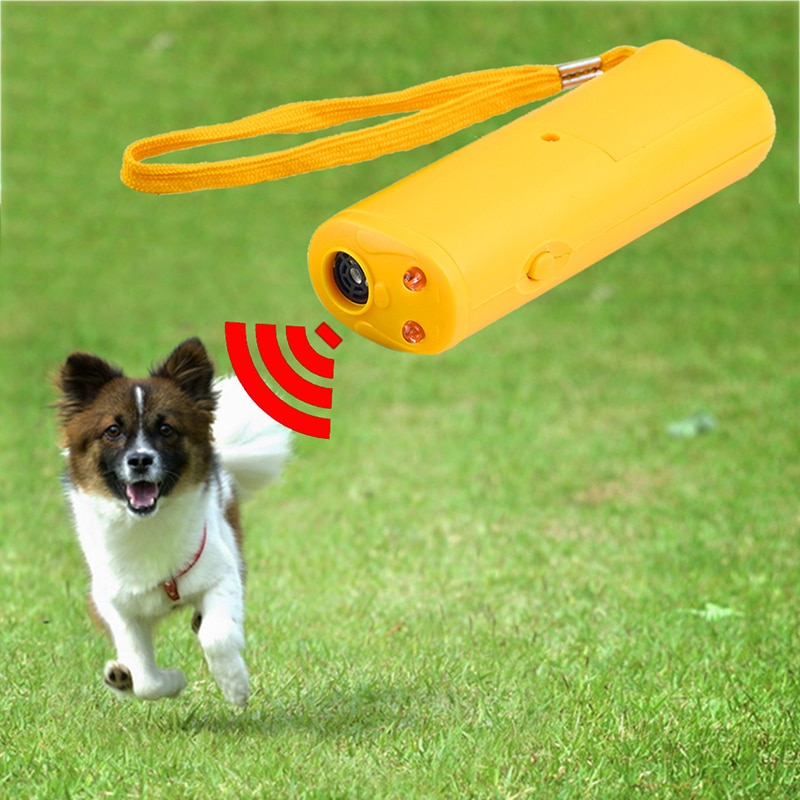 Haustier Hund Repeller Anti Bellen Stopp Bark Training Gerät Trainer LED Ultraschall 3 In 1 Anti Bellen Ohne Batterie Pet liefert