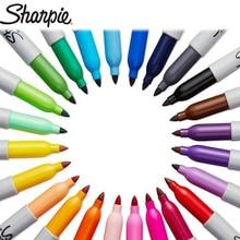 1 pièces Sharpie marqueur stylo huileux Non-décoloration imperméable à leau à séchage rapide Art peinture couleur marqueur grande capacité