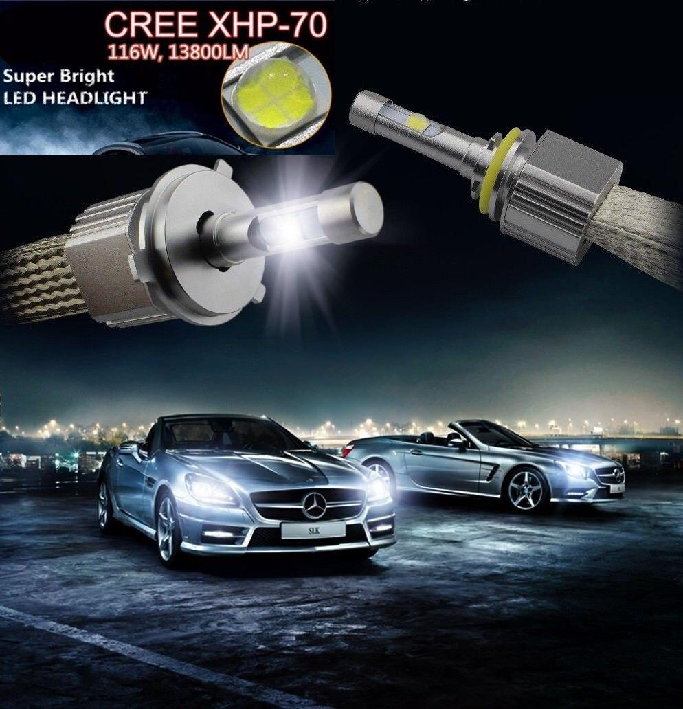 P70 110W 13200LM H7 Kit de faros delanteros LED XHP70 Chips sin ventilador SUPER blanco 6000K de conducción faro H4 H8 H11 9005 HB3 HB4/9006 H1 H3