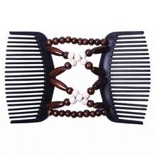 Nouveau Vintage élastique épingle à cheveux extensible peigne à cheveux ventes chaudes perlé cheveux magique peigne pince perles épingle dames cheveux accessoires
