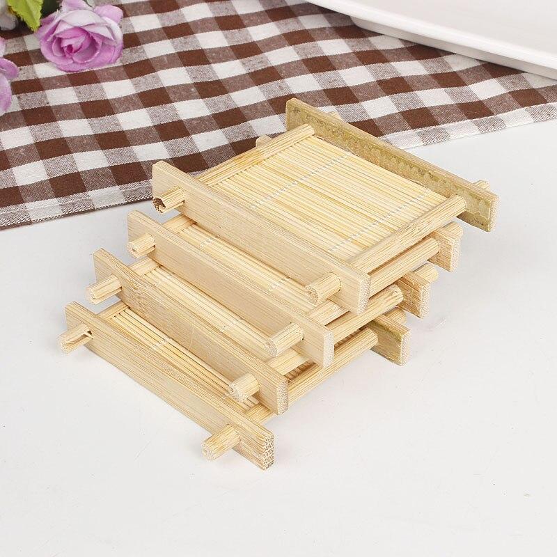 Bandeja de madera de bambú Natural para jabón de baño, plato de...