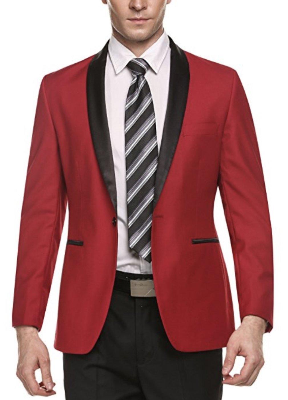 Chaqueta de traje de un botón Casual elegante ajustada para hombre, chaqueta de negocios, Blazers para ocasiones formales de negocios casuales, fiesta de boda