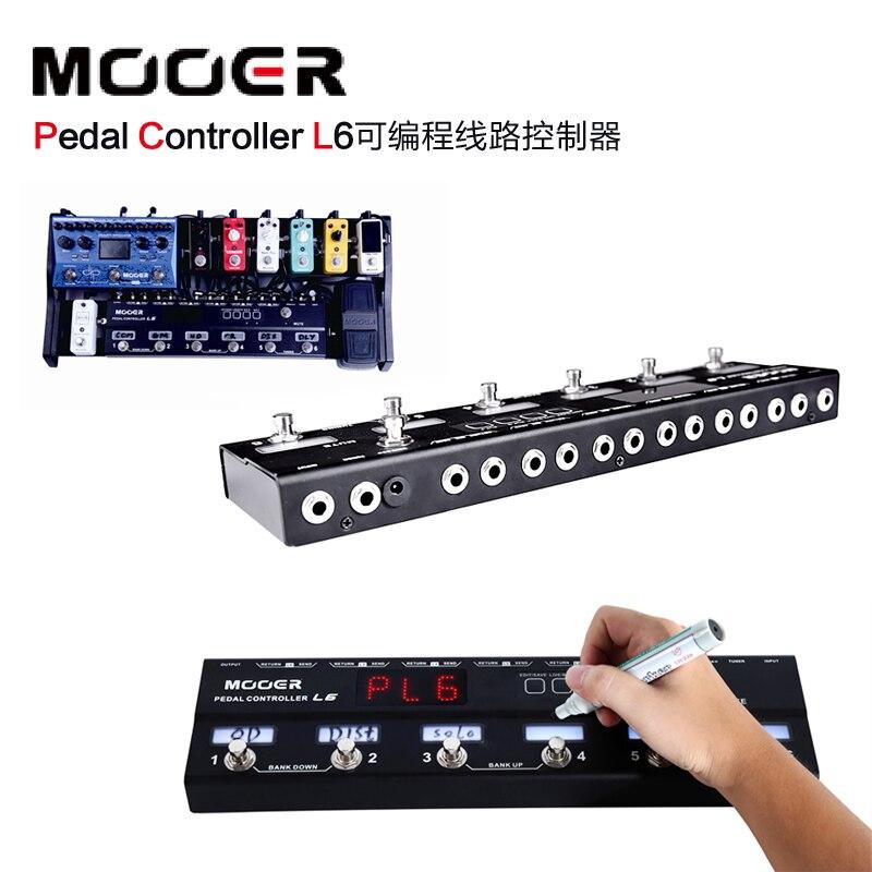 Nuevo controlador de Pedal MOOER L6 con 2 amortiguadores diferentes