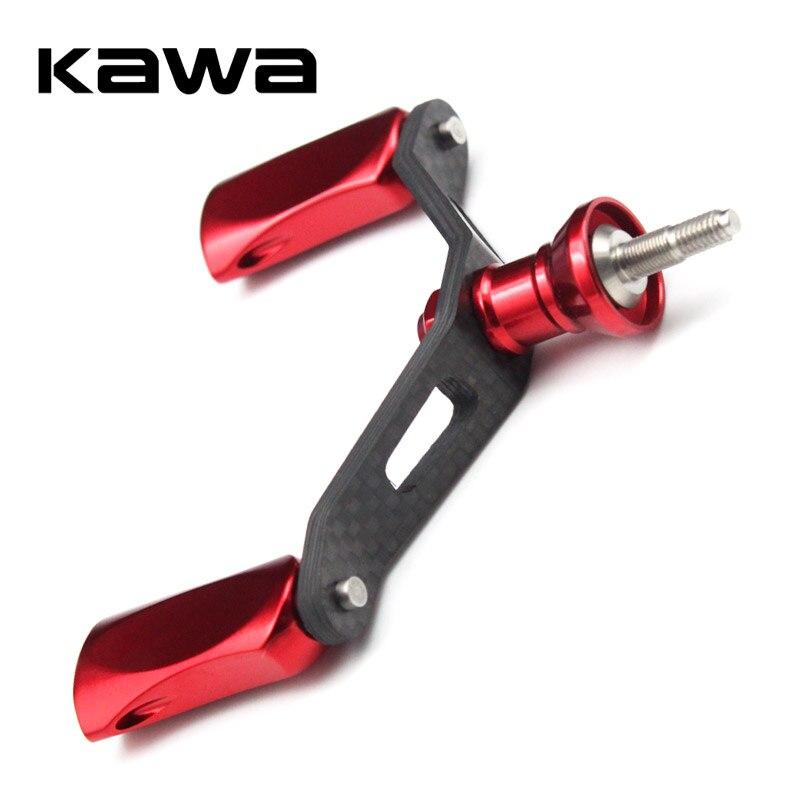 Kawa Angeln Reel Doppel Griff mit Aluminium Legierung Knöpfe, Anzug für Shimano Spinning Reel, carbon Faser Angelgerät Zubehör