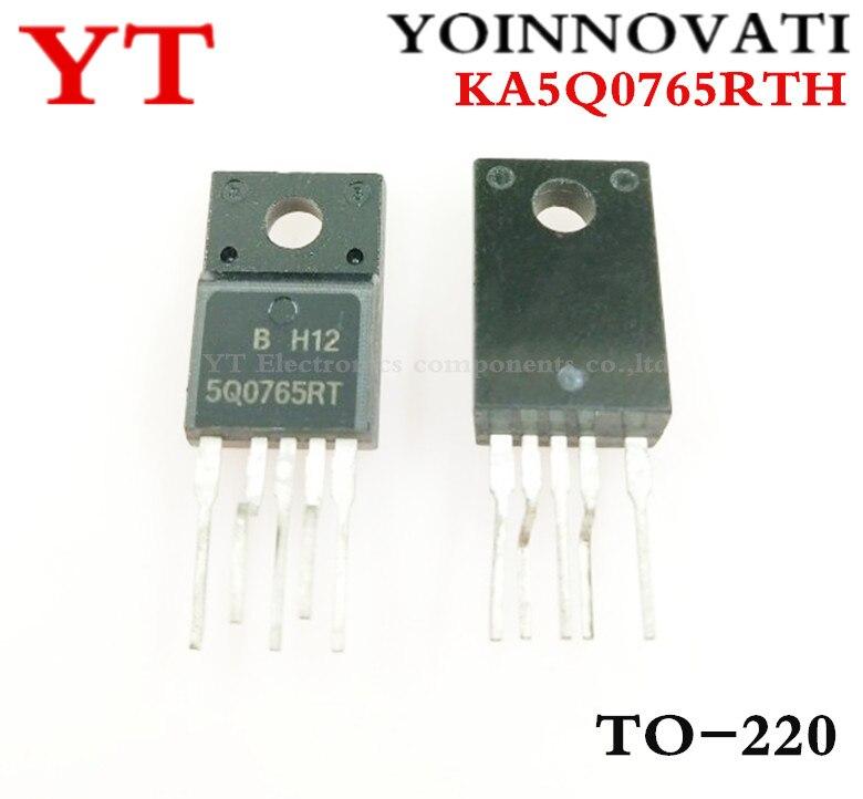 Envío gratis 10 piezas KA5Q0765RTH KA5Q0765 5Q0765 0765 5Q0765RT IC FPS interruptor CTV TO-220F-5 mejor calidad