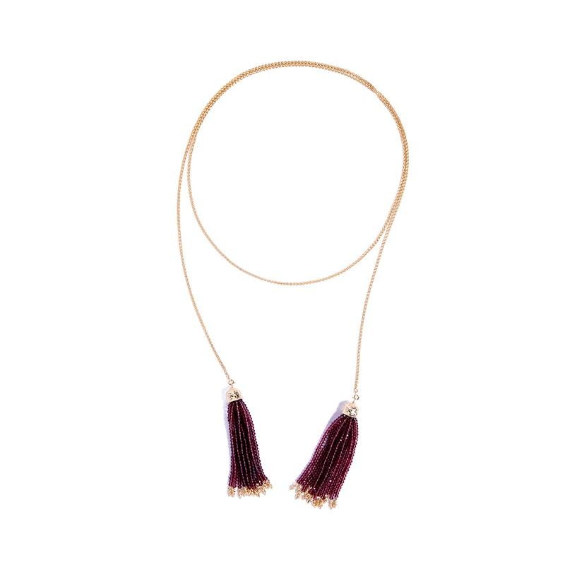 Белые и красные бусины с имитацией жемчуга подвеска с бахромой эффектное ожерелье духи женское ожерелье с длинной цепью ожерелье