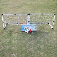 2 قطعة كرة قدم مصغرة كرة القدم الكرة هدف للطي وظيفة شبكة + مضخة الاطفال الرياضة في الأماكن المغلقة في الهواء الطلق لعب الاطفال