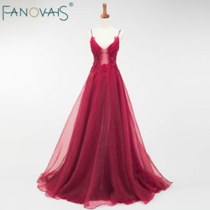 Burgundy Evening Dress Women Dresses Evening Party Formal Dresses Kaftan Dubai Sexy Evening Gowns for Women Vestidos De Fiesta