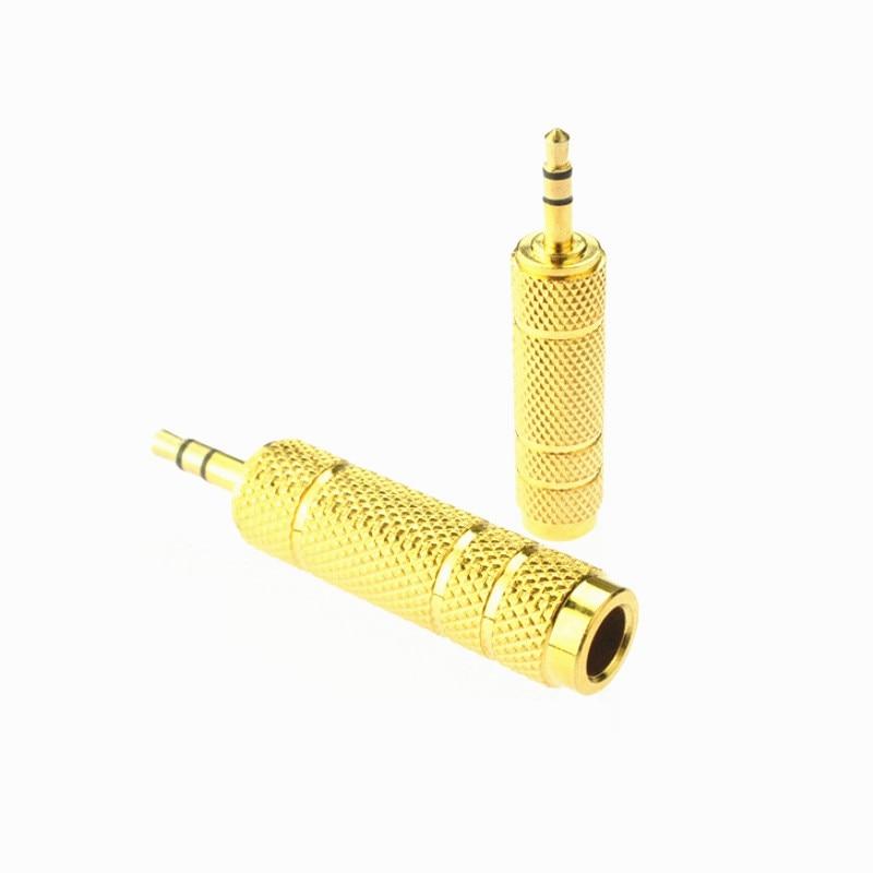 10 قطعة/الوحدة ميكروفون 6.5 مللي متر الإناث إلى 3.5 مللي متر الذكور الصوت موصل محول التوصيل