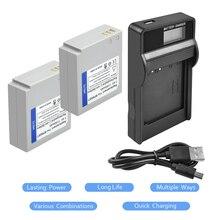 Bonacell 2Packs IA-BP85ST Li-Ion Batterie 7,4 V 1100mAh + 1Port Batterie Ladegerät mit LED Für Samsung VP-MX10 SMX-F30 SMX-F33 L20