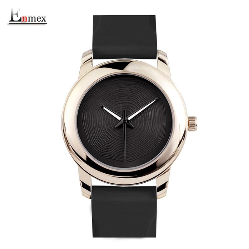 Presente enmex estilo criativo senhora relógio de pulso gloden 3d vortex face design criativo banda silicone luminoso breve relógio de quartzo casual