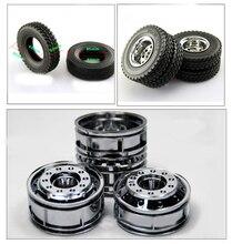 2 pièces Mini pneu 1/14 Tamiya tracteur/camions à benne basculante roues diamètre extérieur 85mm simulé jouets pneu petits pneus accessoires pour modèle de voiture