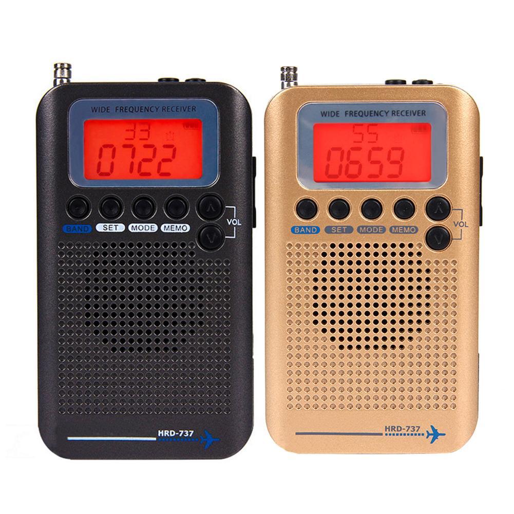 Mini radio HRD-737 Draagbare Digitale LCD Volledige Band FM/AM/SW/CB/Air/VHF Radio stereo Radio Ontvanger радиоприемник