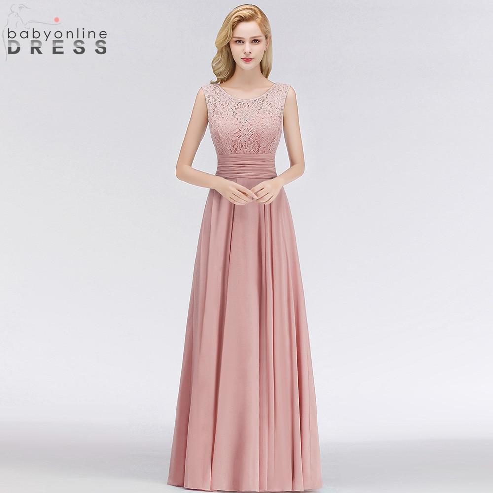 فستان سهرة طويل من الشيفون باللون الوردي المغبر 2021 مثير بسحّاب خلفي للحفلات المسائية مع وشاحات Vestido de Festa