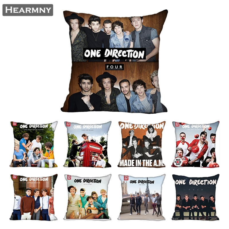 One Direction Pillow Case For Home Decorative Pillows Cover Invisible Zippered Throw PillowCases 40X