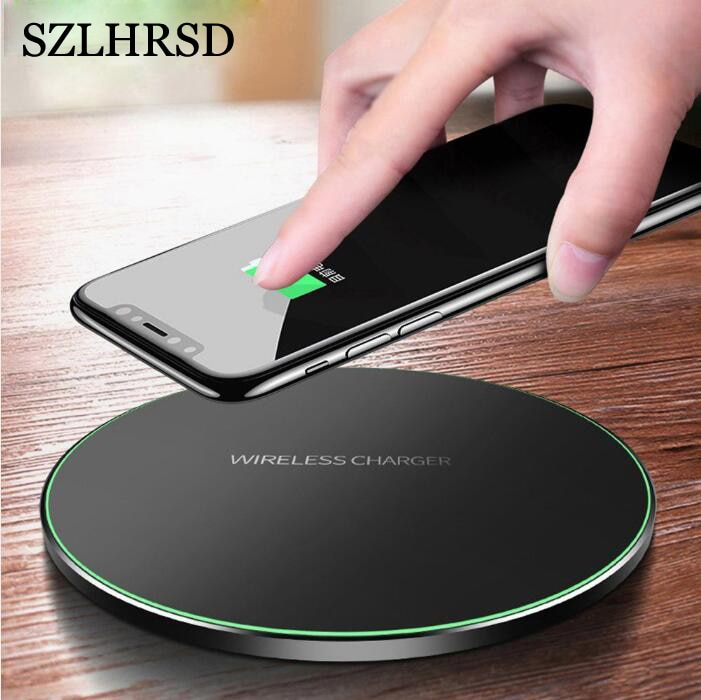 SZLHRSD Qi inalámbrico cargador para Samsung Galaxy M20 M30 A6 A6 más A7 2018 A8 más A9 Pro 2019 base de carga rápida Pad