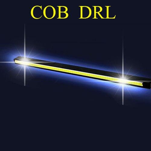 2 unidades por juego, nuevo diseño, lámpara LED de circulación diurna DRL, luz COB automática 100%, accesorios impermeables para coche, envío gratuito
