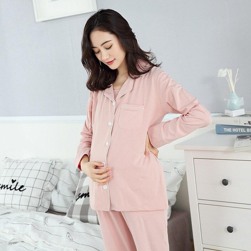 3Sets Maternity Cotton Pajamas Breastfeeding Sleepwear Nursing Pajamas for Pregnant Women Postpartum Clothings enlarge