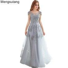 Robe de soirée 2019 gerie/rouge col en v dentelle mince longue banquet Robe de soirée vestido de noche robes robes de bal robes de soirée