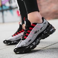 Air semelle chaussures de course pour hommes confortable flambant neuf Sneaker taille 39-46 à lacets en plein Air maille Fitness Jogging chaussures de Sport pour les hommes