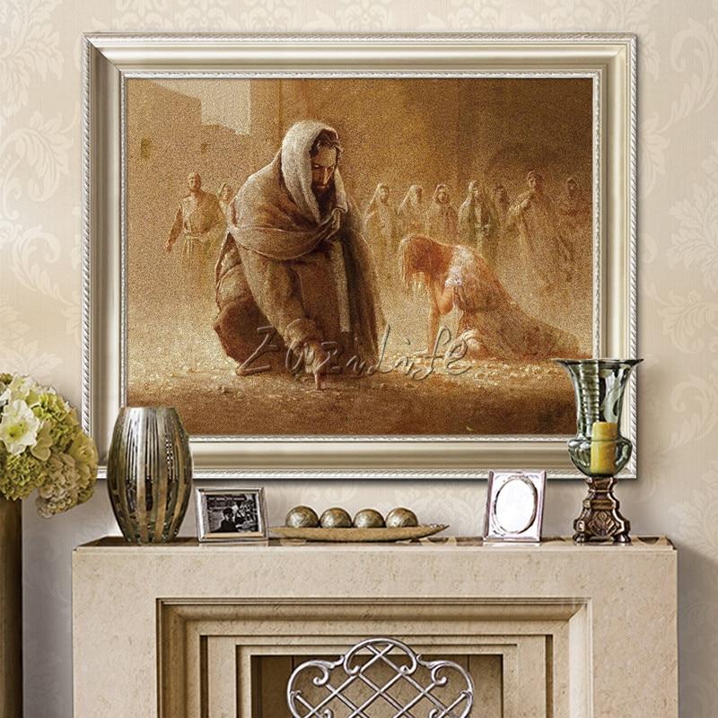 Картина маслом на холсте с принтом «Jesus Christ Jesus», настенные художественные фотографии для гостиной, домашнего декора, 95