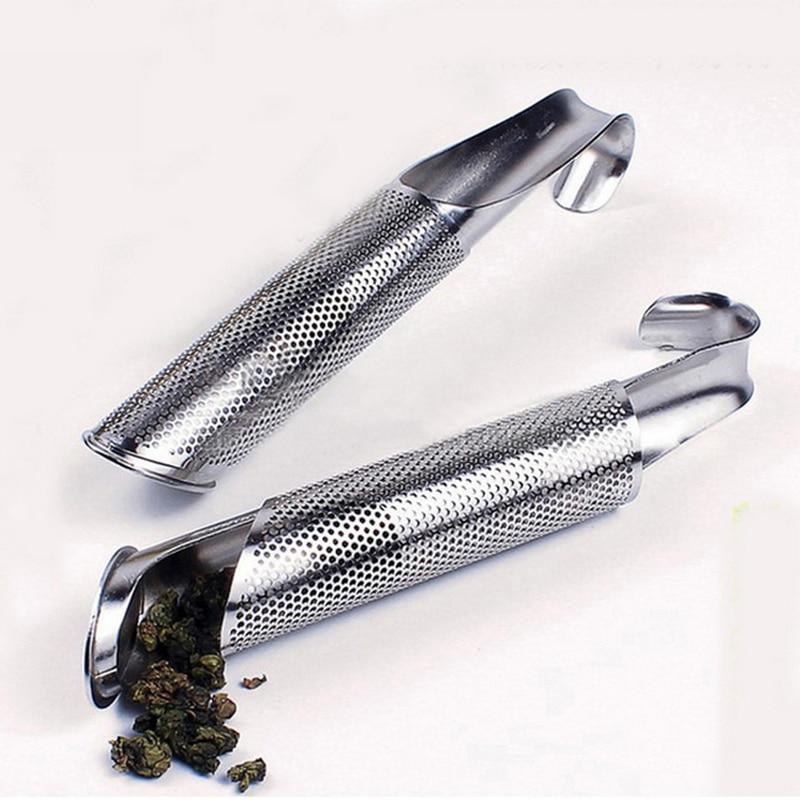 1PCS Stainless Steel Tea Infuser  Tea Spoon Infuser Filt Pipe Design Holder Tool for Puer Tea Herb Tea Tools Accessories