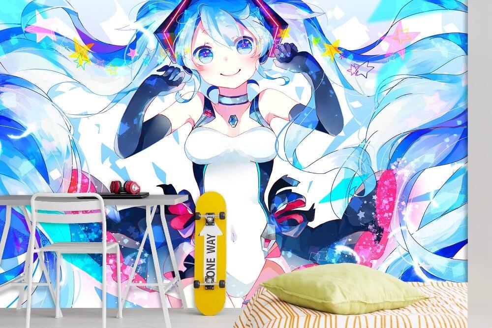 [Autoadhesivo] 3D Hatsune Miku dibujos animados 46 Japón Anime pared papel mural pared impresión mural pared murales