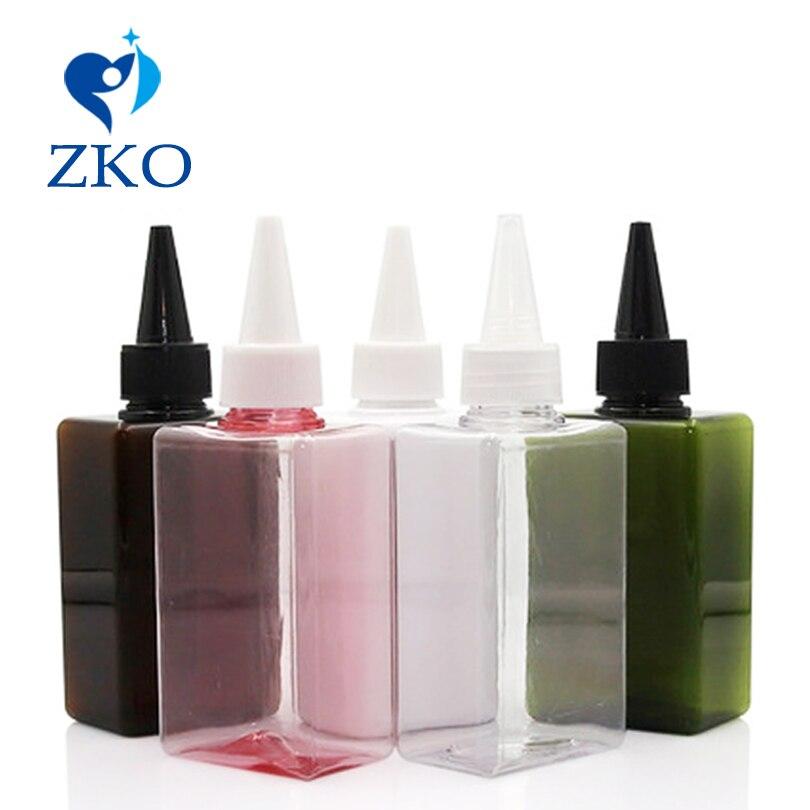 5 unids/lote 150 botella de plástico de forma cuadrada ml con boquilla boca tapa yorker cap botella de cosméticos envío gratis botella rellenable
