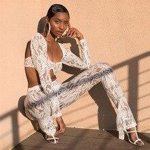 2019 verão fora do ombro laço 2 peça conjunto feminino sexy topo de colheita e calças queimadas dois conjuntos terno peice feminino praia outfit 2 pçs