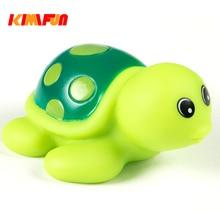 Animaux eau coloré caoutchouc flotteur jouet de bain enfants bebe tortues piscine jouet