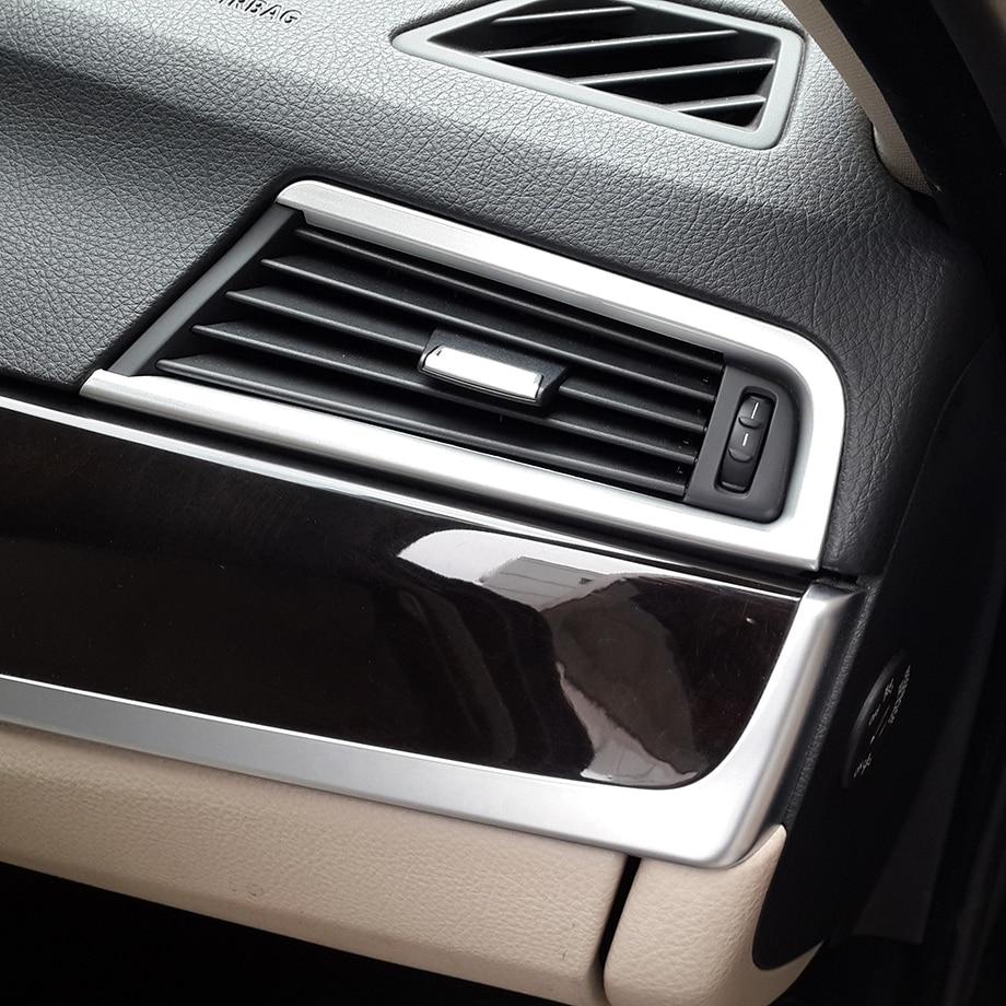 Хромированная Крышка для вентиляционных отверстий для BMW 5 серии F10 520 525 2011-2015 для левого водителя шпаргалка для водителя 2011