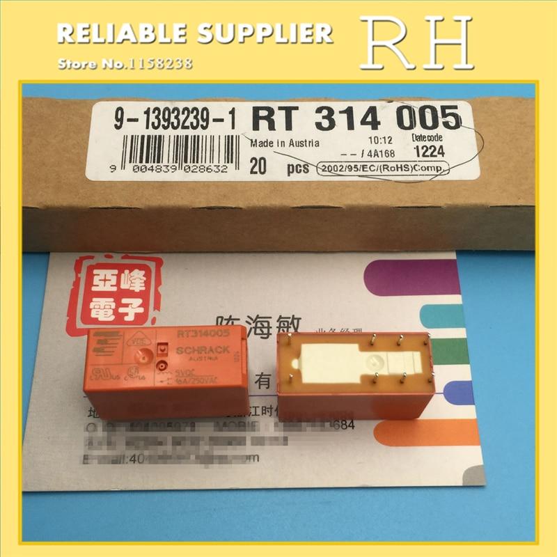 10PCS/lot Power relays RT314005 RT314012 RT314024 16A 8PIN A set of conversions