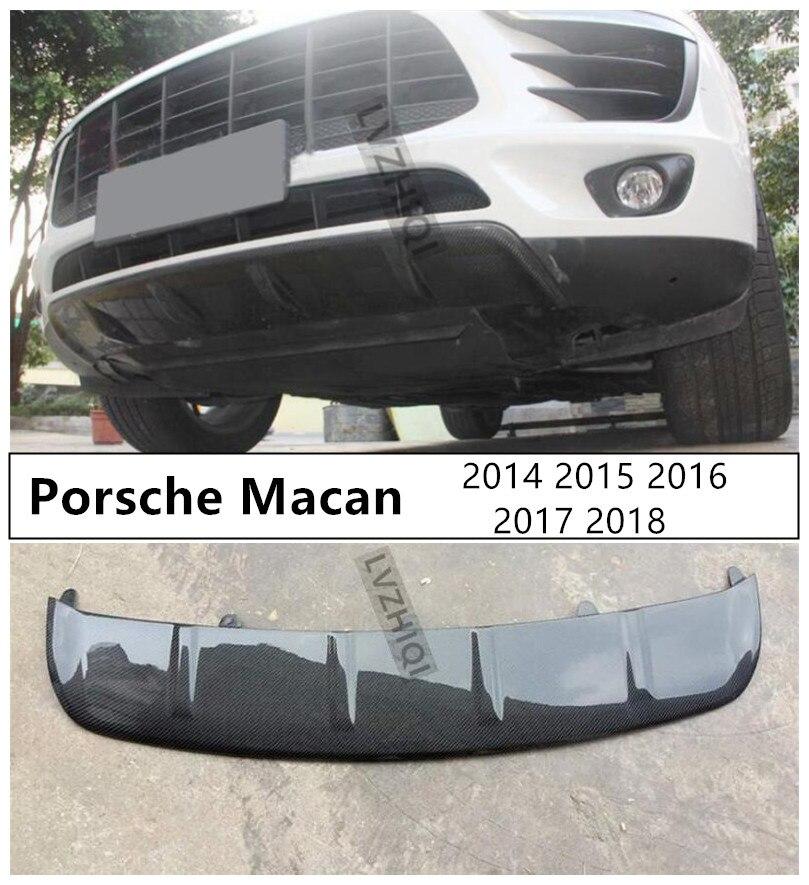 Perfil de alerón delantero de fibra de carbono para Porsche Macan 2014 2015 2016 2017 2018 difusor de parachoques de alta calidad accesorios Auto modificados