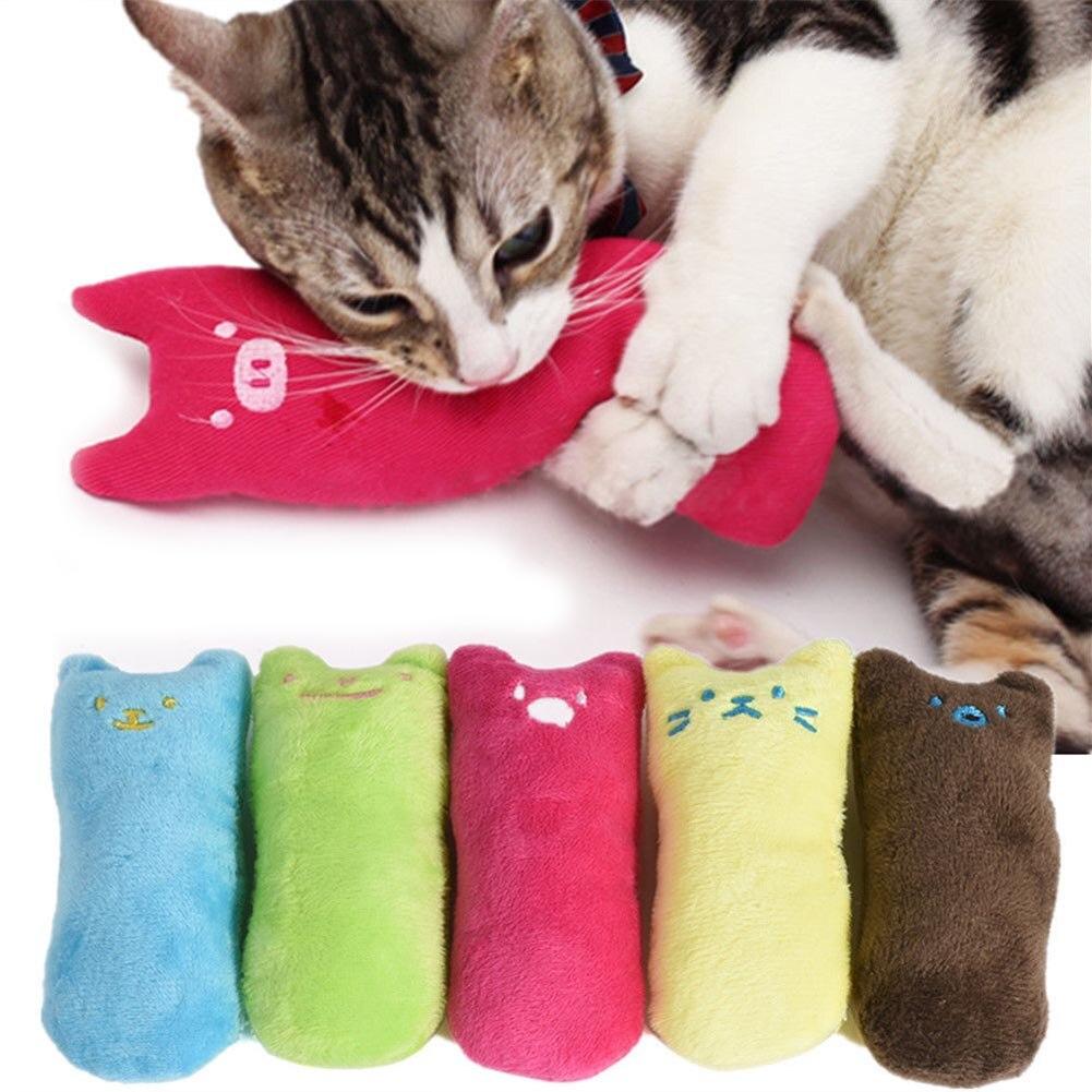 Divertida almohada Linda rascadora gato loco Kicker Catnip juguete dientes molienda juguetes E2S