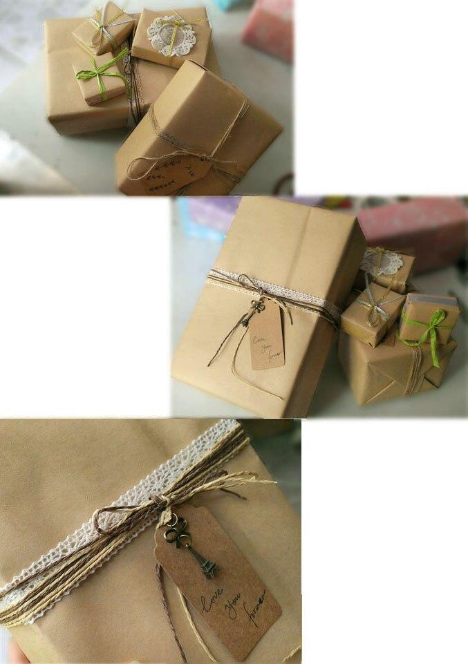 Papel de embrulho de embalagem de papel de embrulho de embalagem de papel artesanal marrom liso embalagem de kraft 21*29cm frete grátis