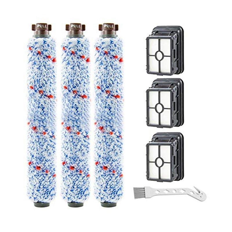 Paquete de 3 rollos de cepillos multisuperficie 1868 y paquete de 3 filtros de vacío 1866 compatibles con la serie Bissell Crosswave 1785 2306. Comparar