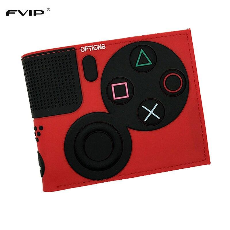 Игровой кошелек PlayStation 4 с отделением для монет и ID-картой, 3D Touch, ПВХ, короткий кошелек для молодежи