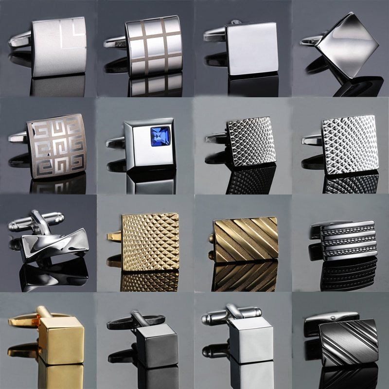 High quality Novelty cuff links copper Metal Old craftsman hand Laser engraving cufflinks mans Frenc