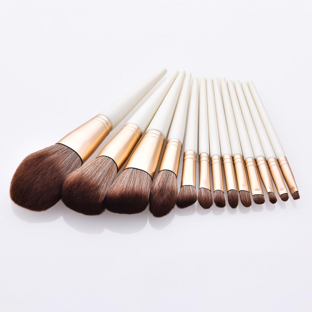 Nuevos cepillos de moda para mujeres 8 PC/12 PC base de madera cosmética sombra de ojos cejas cepillo de cosmética profesional caso F5.14