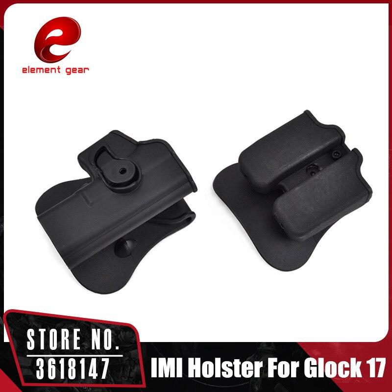 Elemento táctico alcance pistola pistolera combate al aire libre cinturón GLOCK Holster revista bolsa 9x19mm BK CY0022