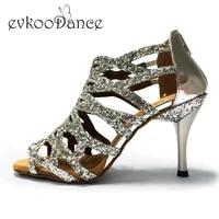 shoes dance latin 8 5cm slim high heel leather soft sole red black silver pink ballroom salsa women latin shoes sandals nl008
