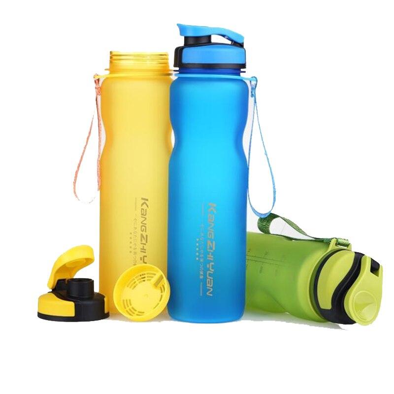 Botellas de agua deportivas de 1000ML, vasos de plástico, espacio de limpieza, taza ecológica Tritan BPA, botella de escalada libre de escalada, senderismo y ciclismo U0075