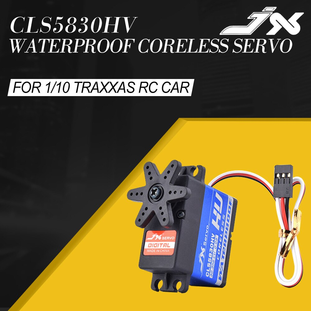 JX CLS5830HV 30KG entièrement en métal étanche HV sans noyau Servo pour 1/10 TXR4 Rc4wd RedCat HPI Baja 5B SS voiture sur chenilles RC