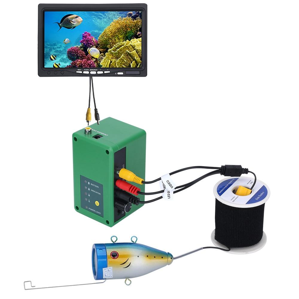 1000TVL Fish Finder Underwater Fishing Camera  Double Lamp 30 LEDs 7