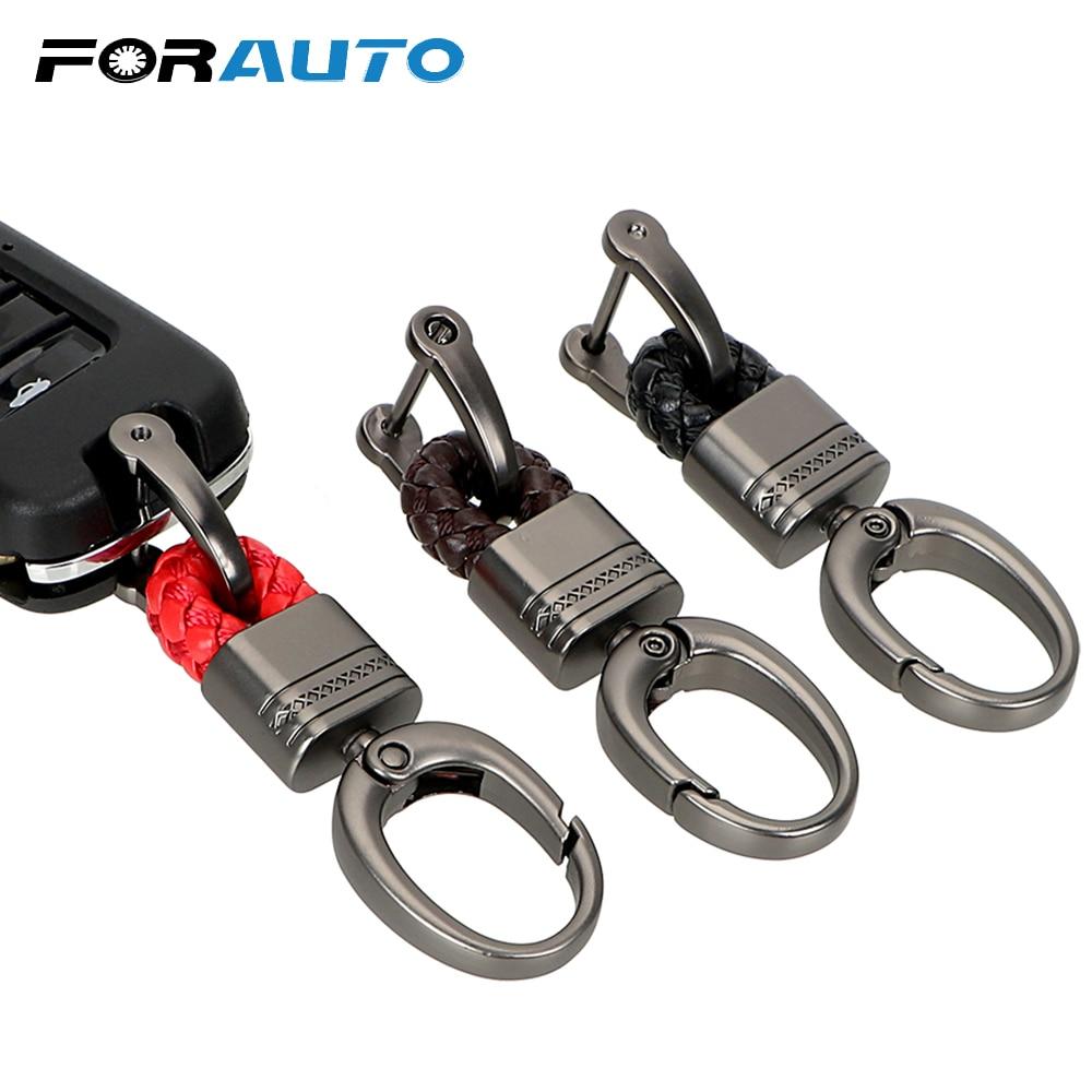 FORAUTO voiture porte-clés porte-clés porte-clés tissé à la main fer à cheval boucle porte-clés voiture porte-clés cadeau créatif Auto accessoires